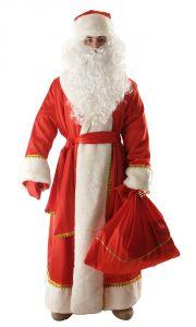 Костюм Деда Мороза  креп-сатин (Размеры:XL,XXL, XXXL.)