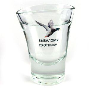 "Пьяная рюмка ""Бывалому охотнику"""