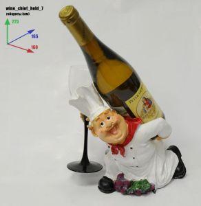 Подставка для вина «Повар на коленях бутылка на спине»