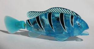 Роборыбка с открывающимся ртом (синяя, светится)