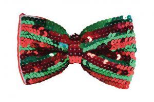Галстук-бабочка (красно-зеленая)