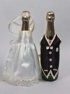 Украшение на шампанское Жених и Невеста 2