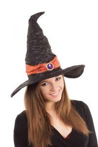 Колпак ведьмы с оранжевым поясом