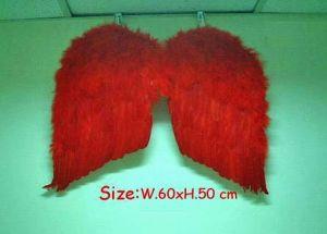 Крылья перьевые красные 60 х 50 см