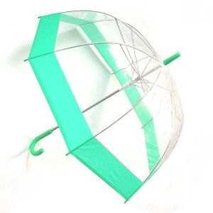 Зонт прозрачный (купол зеленый)