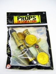 Набор пиратский (монеты, кинжал, труба)