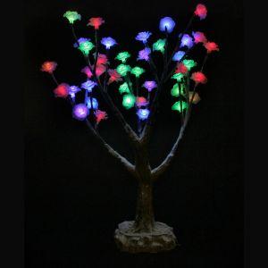 """LED-Дерево """"Цветы заснеженные"""", высота 50см"""