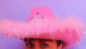 Шляпа  гламурная ковбойская