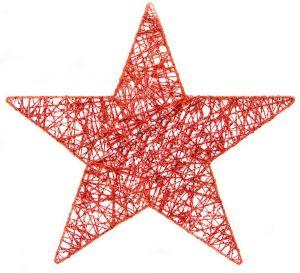 Набор металлических звездочек красных (15,20,25,30,40см)