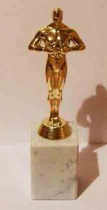 Оскар на гранитной прямоугольной подставке (21см.)