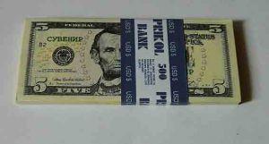 Пачка денег 5 $