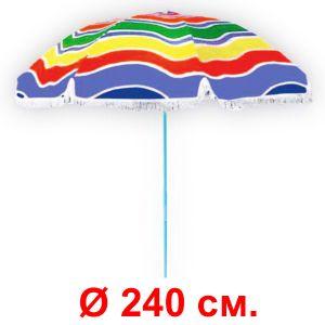 Зонт «Веселый» с регулируемым наклоном (диаметр 240 см.)