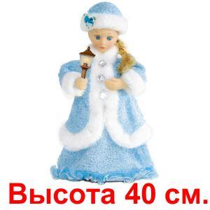 Снегурочка со свечой, в голубом наряде, 40 см.