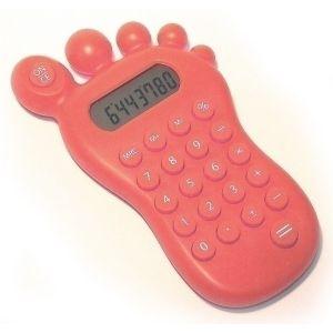 Калькулятор Ступня с головоломкой (красный)