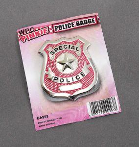 Бэйдж полицейского (розовый)