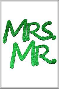 Слова для фотосессий MR и MRS (зеленый) (Ш:13 Д:25)