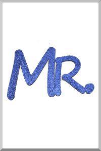 Слова для фотосессий MR и MRS (синий) (Ш:13 Д:25)