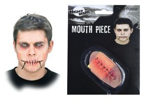 Наклейка- Рот зашитый