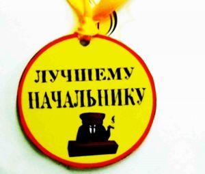 """Медаль пластиковая """"Лучшему начальнику"""""""