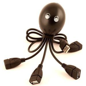 Разветвитель HUB осьминог (черный)