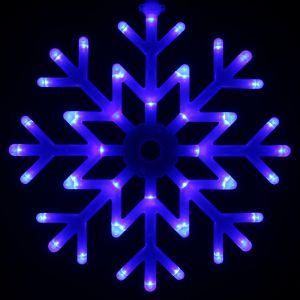 """""""Снежинка синяя"""",постоянного свечения, 40см."""