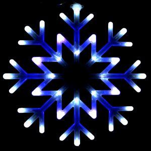 """""""Снежинка сине-белая"""",с контроллером, ?40см."""