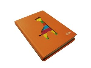 Блокнот с вырезанным Жирафом оранжевый