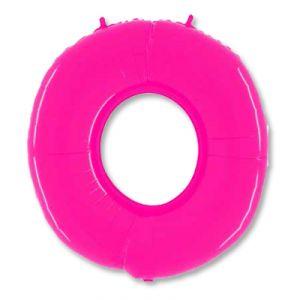 Шар цифра 0 (ярко -розовая)