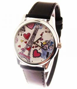 Прикольные наручные часы Париж