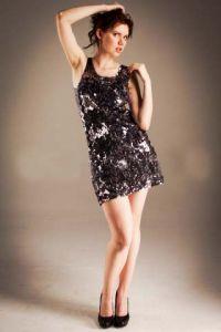 Платье стальной узор