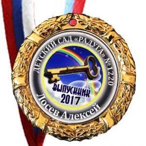 Набор для выпускника 2  (Медаль 70мм. лента, любой текст, изображение)